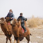 Kamelritt in der Gobi (Ulli, Katherine, Daria)